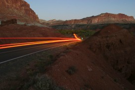 Brake Lights in Capitol Reef, UT