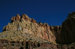 Nighttime Cliffs in Capitol Reef, Utah