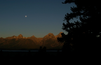 Tetons Morning Moon, Wyoming