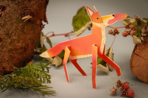 3D Fox Card