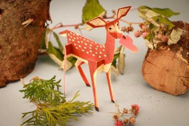 3D Charming Deer Card