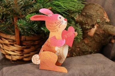 3D Bunny Valentine Card